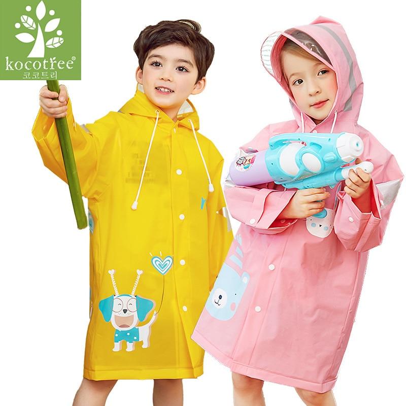 Claro rainsuit moda animal à prova dwaterproof água crianças meninos meninas rainsuit com capuz pvc geral dos desenhos animados crianças com capuz terno 7r89