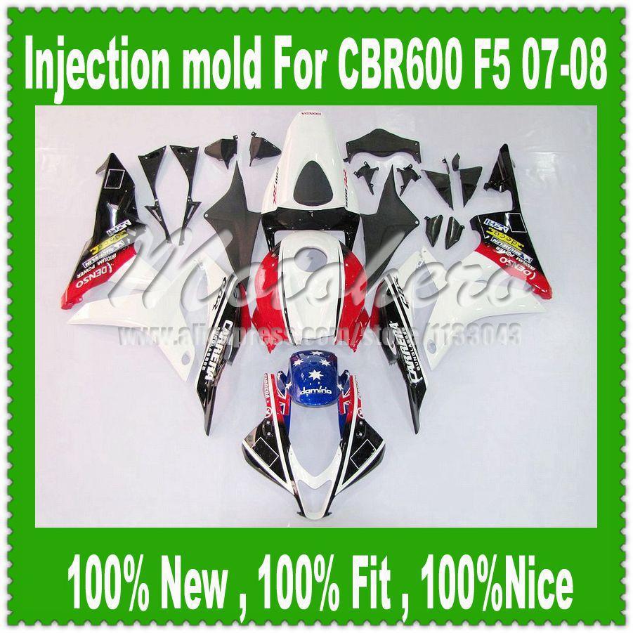 Colorful k325 For HONDA F5 CBR600RR 07 08 CBR 600 600RR Injection CBR600 RR CBR600F5 07-08 F5 2007 2008 Fairing