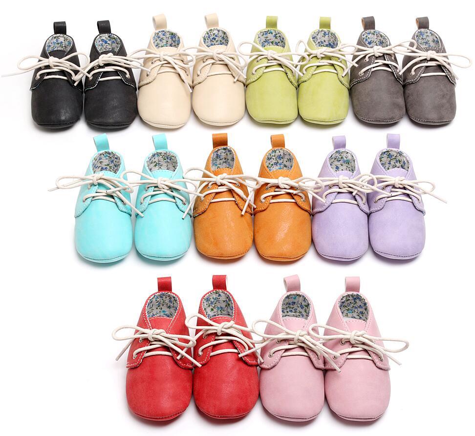 HONGTEYA/детские мокасины для малышей; Мягкие повседневные ботинки из искусственной кожи; Обувь на шнуровке; Детские туфли-оксфорды; Кроссовки