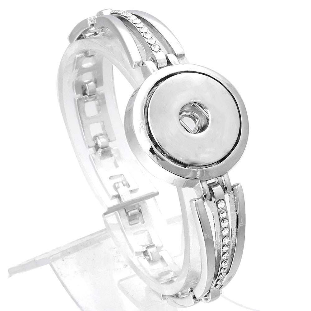 New Snap Button Bracelet Bangles for Men Women Watches Lobster Bracelet Button Jewelry Fit 18mm Snap