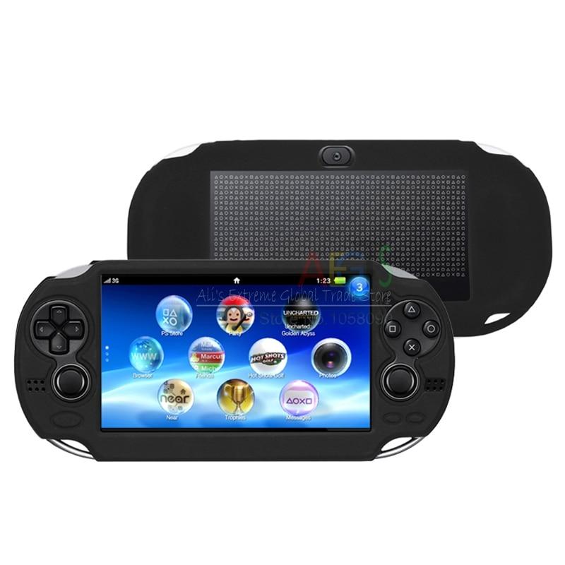 Funda de silicona negra para PSV 1000 Gel de silicona PS Vita PSVita 1000 funda protectora para Sony Psvita funda de juego TPU