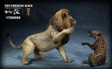 Figuras coleccionables de resina Mr.Z, colección de 1/12, juego de figuras de animales de resina, Thunderfury, león africano, VS perro manchado, regalo para seguidores