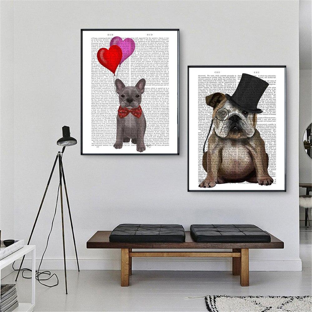 Pósteres bonitos e impresos Cuadros de periódico para perros animales Impresión de...