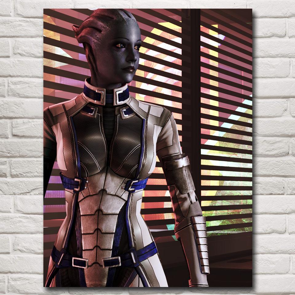 FOOCAME-affiche image effet de masse 12x16 18x24 24x32 pouces   2 3 4 tournage, Action Game Art, soie, décor pour chambre à coucher et salon