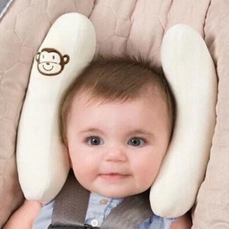 ¡2019! Asiento de coche seguro para bebé, almohada para carriola para bebé niños recién nacidos, cojín suave de algodón para dormir en el coche, cojín de seguridad para Cabeza y Cuello