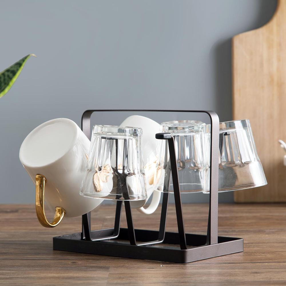OTHERHOUSE, железная кухонная полка, кофейная кружка, подставка для сушки, держатель для чашек, органайзер, вешалка для слива, подставка с 6 крючка...