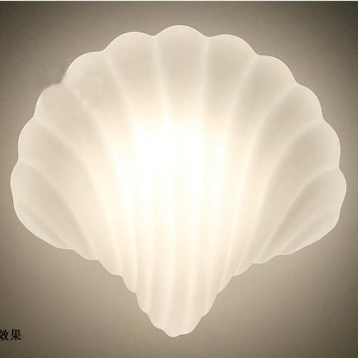 Glass Shell Wall lamp White Shell Wall lights Sconce Creative Light  Wall Lamps Fixture E27 lamp holder 40W 110V 220V