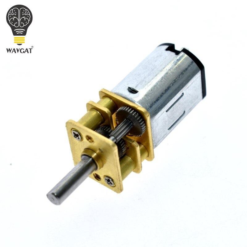 WAVGAT llegada DC 6 V 200 RPM Mini Metal Gear Motor con rueda dentada modelo N20 eje de 3mm de diámetro herramienta de poder