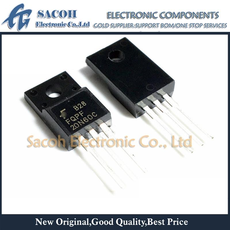 New Original 10 Pçs/lote FQPF20N60C FQPF20N60 ou FCPF20N60C FCPF20N60 20N60 ou FQPF20N50C FQPF20N50 TO-220F 20A 600V Potência MOSFET