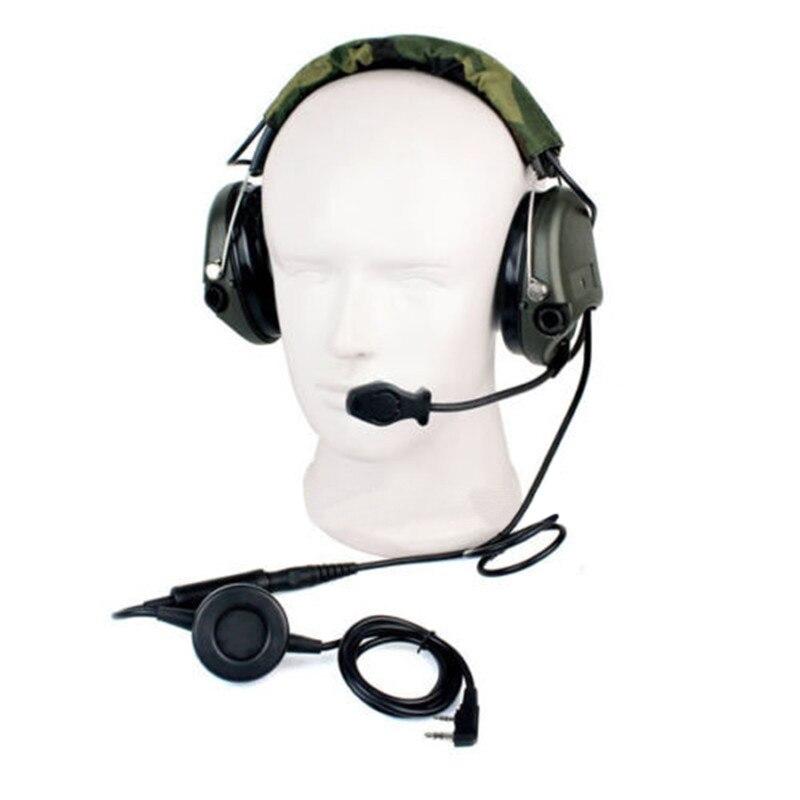 2 قطعة جديد Z التكتيكية H60 الضوضاء سماعة إلغاء الإلكترونية لاقط الصوت ل ميدلاند اتجاهين راديو