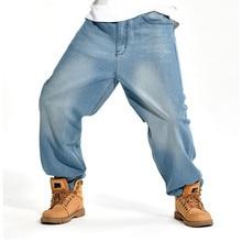 Człowiek luźne jeansy hip hop deskorolka dżinsy workowate spodnie denim spodnie hip hop mężczyźni ad rap dżinsy duży rozmiar 30-46 SHIERXI