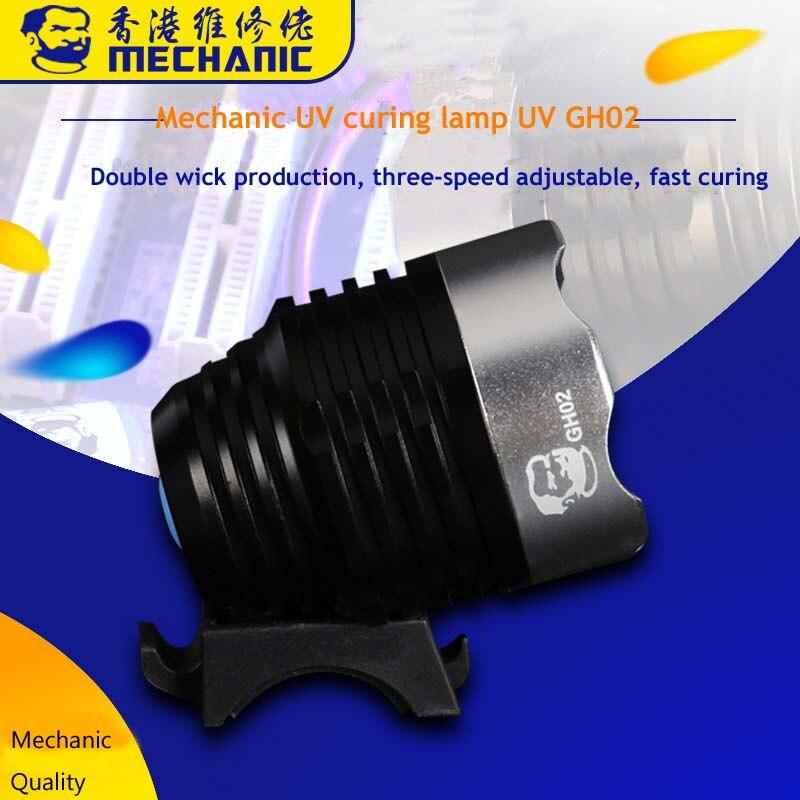 Jyrkior Mechanic Multifunction Industrial UV Ultraviolet Green Oil Curing Lamp Double Core UV Light For Mainboard Maintenace
