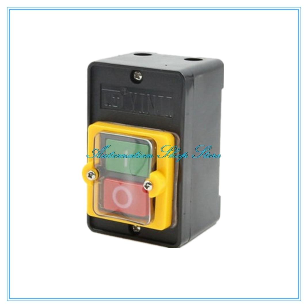 KAO-10KH WaterProof control Push Button Switch 10A 250V 380V KAO-5H Cutting Machine Bench drill Switch Plastic Motor