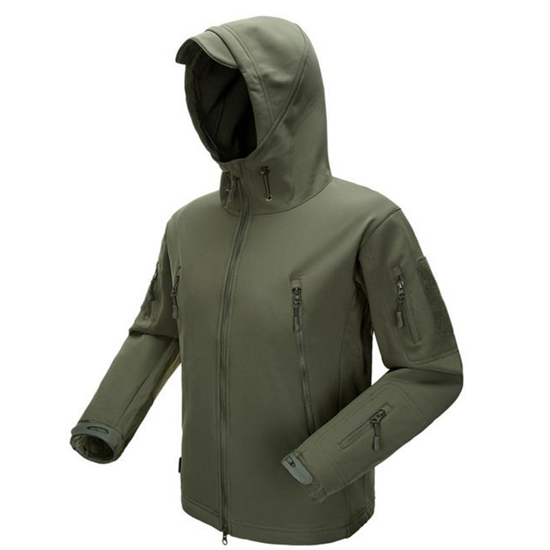 ESDY chaqueta al aire libre abrigo resistente al agua Luker poco tiburón piel suave cáscara Hoodie militar Airsoft Camping ropa de senderismo WST115