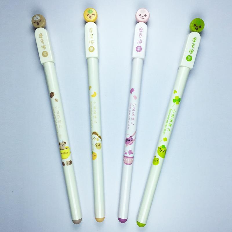 Engraçado Dos Desenhos Animados Caneta Gel Normal Forma Encantadora Coreano Criativo Bonito Presente Do Miúdo Colorido Kawaii Caneta Esferográfica de Tinta Preta Recarregáveis