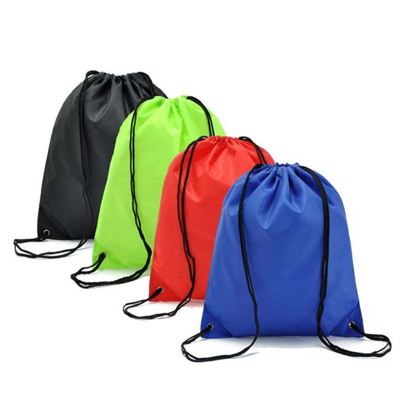 LASPERAL bolsas de almacenamiento de viaje para zapatos, bolsa de maquillaje para lavandería, mochila impermeable de Nylon con cordón, mochila de juguetes para niños, bolsa de 39*33CM