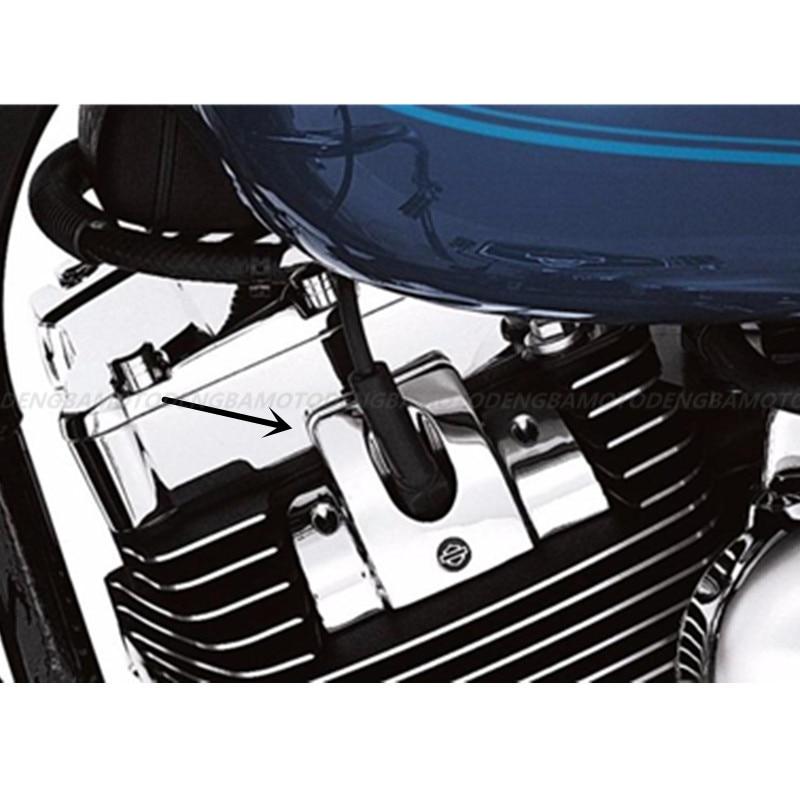 Drag Wrinkle Engine Spark Plug Filled Cover For Harley Sportster XL883 XL1200 XR1200 2004 2005 2006-2013 2014 2015 2016 2017