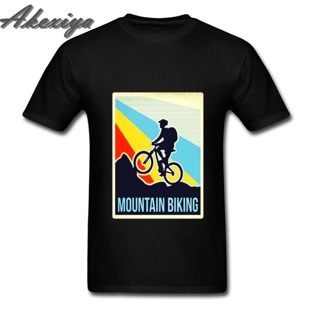 2019 Beautiful fashion Men Tops tees Creator mountain biking MTB t shirt Vintage Style with Downhill Freeride Man Custome TShirt