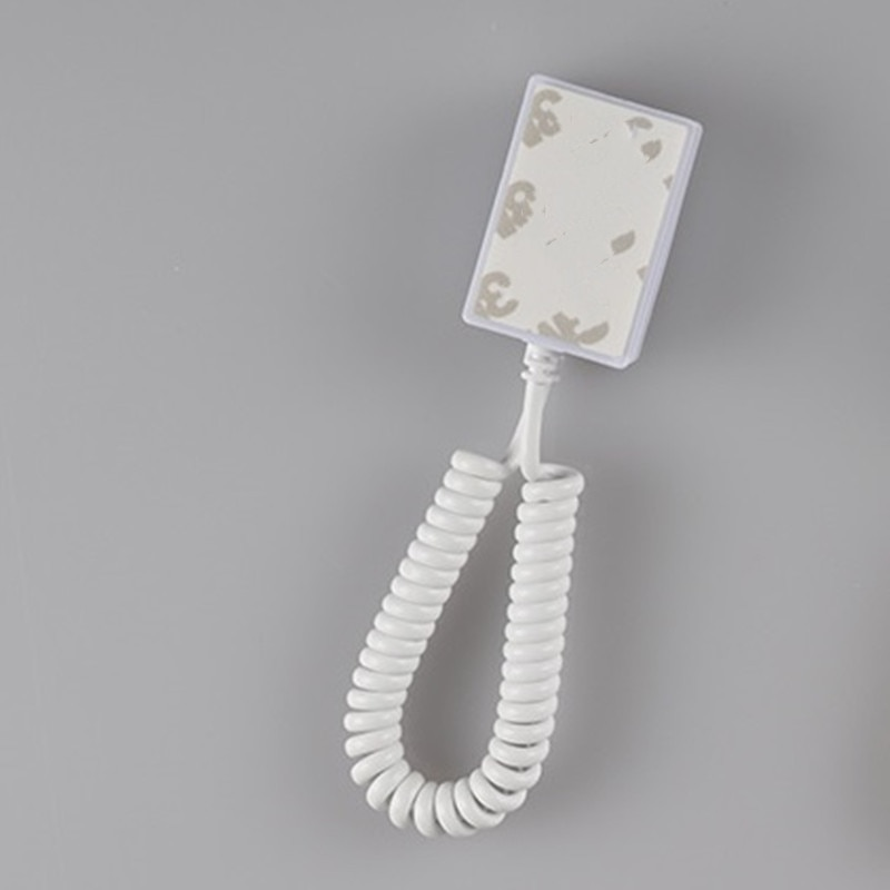 (100 pcs/lot ) Open showcase spring cable anti lost security display accessory pull box holder abs material white color enlarge