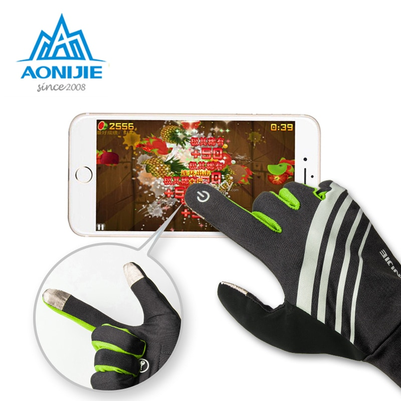 AONIJIE, guantes deportivos con pantalla táctil a prueba de viento para montar en moto, correr, senderismo, ciclismo, esquí, bicicleta Unisex