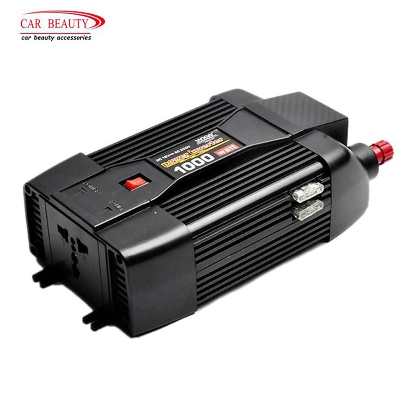 1000W USB Auto Ladegerät Modifizierte Sinus Welle Power Inverter Konverter Adapter DC 12V Zu AC 220V Für notebook Laptop
