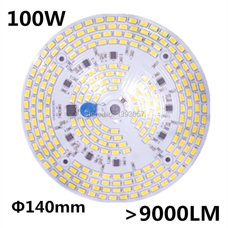 100 w smd 5730 5630 led pcb com smd5730 instalado e ic driver. Placa de alumínio, frete grátis