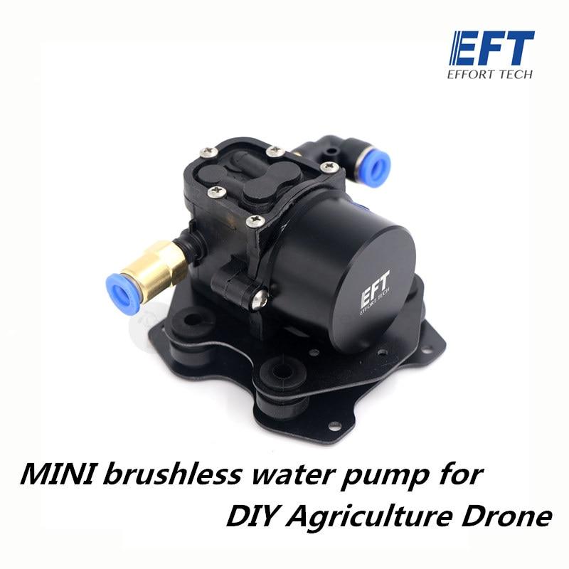 Minibomba de agua sin escobillas EFT, diafragma de reflujo de presión en miniatura para agricultura DIY, Dron rociador 5L 10L