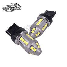 50 قطعة/الوحدة T20 7440 led W21/5 واط 30smd 2835 LED 30 واط الفرامل إشارة بدوره الذيل ضوء لمبة DC12-24V لمبة استبدال سيارة ضوء مصدر