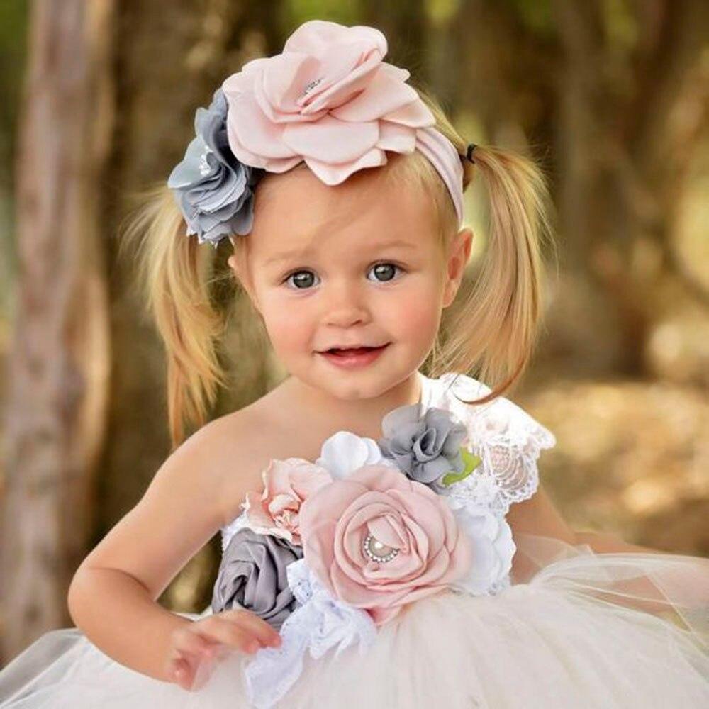 Elegant Flower Girl One Shoulder Dress for Girls Voile Tutu Dress Kids Bridesmaid Ankle Length Party Dress Set Baby Girl Clothes