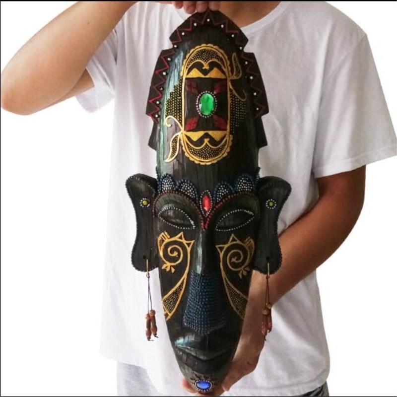 تماثيل أفريقية للأقنعة ، قضبان KTV إبداعية ، ديكور منزلي مصنوع من الراتينج ، ديكور منزلي عتيق