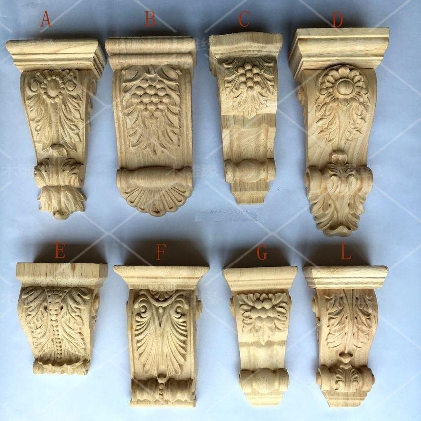 2 sztuk/partia Premintehdw meble architektoniczne zastosowania drewna CORBEL niepomalowane CORBELS