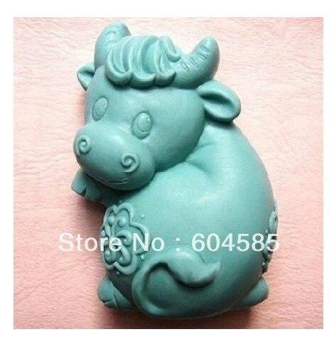 Novo Touro Feliz Artesanato Arte Silicone Sabão Artesanato molde Moldes DIY Handmade moldes de sabão