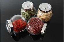 180ml Kitchen jar seal Small canister nuts storage tank glass jar transparent glass bottle storage tank seal seasoning