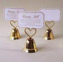 200pcs bruiloft gunst partij decoratie-Gouden kleur kussen bell bruiloft plaats naam kaarthouder usa