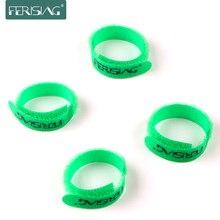Ferisation 10 pièces/lot gestionnaire enrouleur de câble en Nylon câble marque vert cravates étiquette ceinture ruban fil sangle de serrage joints enroulement Velcro
