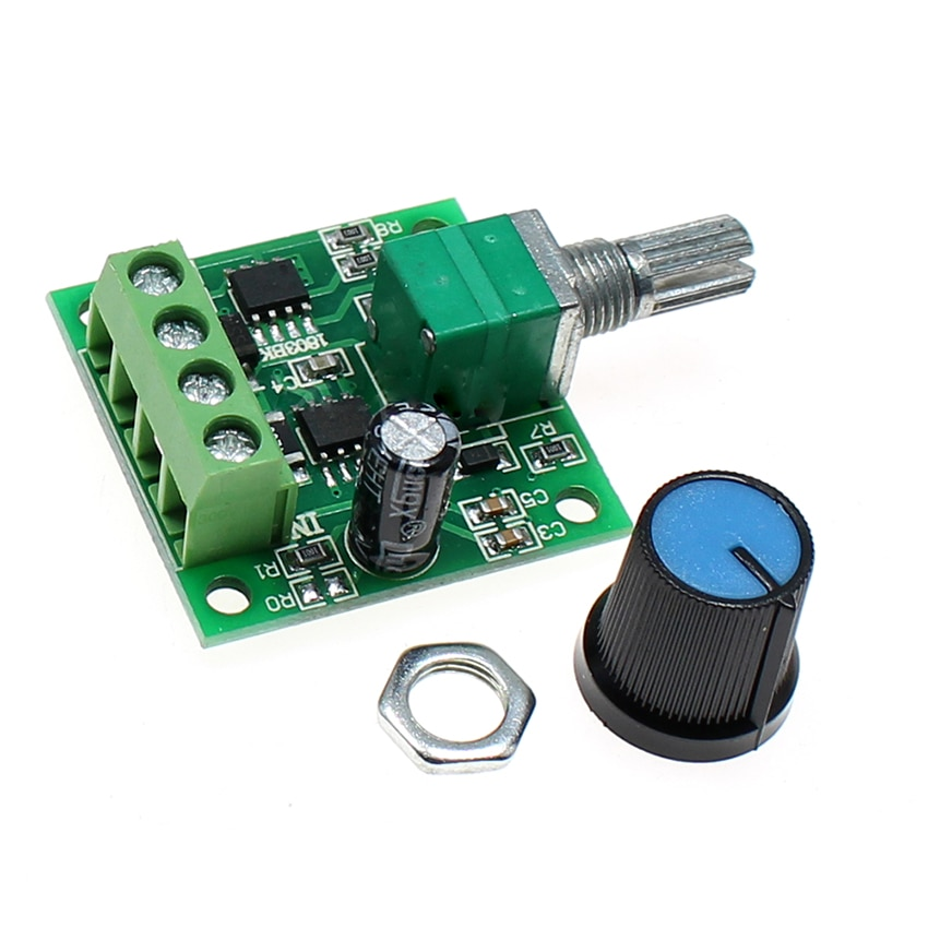 PWM de regulación de velocidad Ultra baja tensión regulador de Motor de CC interruptor 1,8 V 3V 5V 6V 12V 2A 1803BK auto-Recuperación de fusible de DC1.8-15V