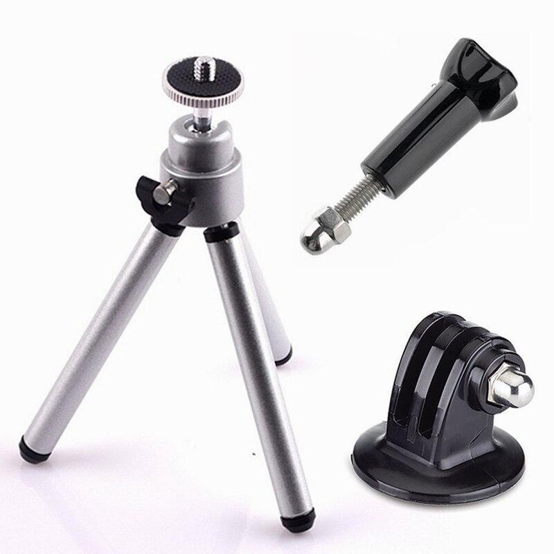 ORBMART Mini Kit trípode para GoPro héroe 4 3 + 3 2 1 Xiaomi Yi SJCAM SJ4000 WIFI SJ5000 SJ6000 SJ7000 deportes cámaras de acción