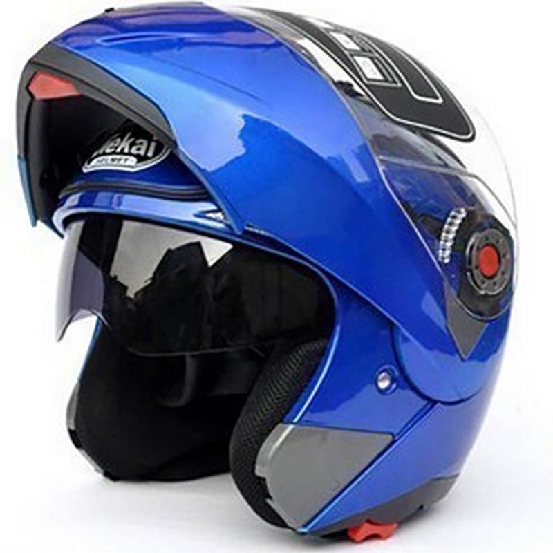 JIEKAI105 Motorcycle Double Lenses Safe Helmets moto Flip Up DOT ECE sticker Helmet Sunglasses Undrape Face Combination