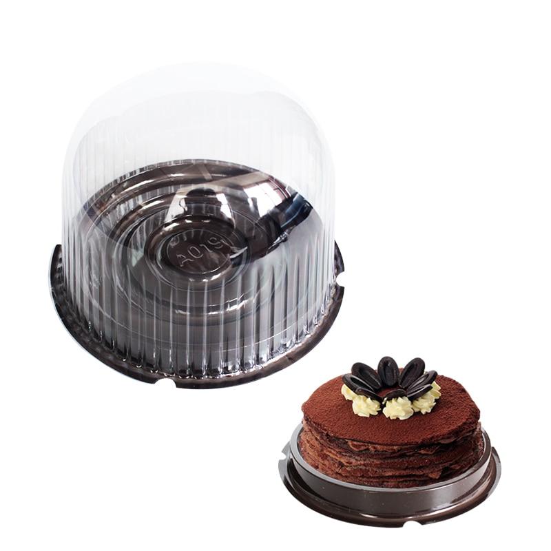 50pcs/lot  round shaped cake box plastic cheese cake liner cake cases gift wholesale-