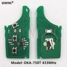QCONTROL Car Remote Key Electronic Circuit Board for KIA OKA-750T Vehicle Keyless Entry 433MHz Transmitter ASSY 433-EU-TP