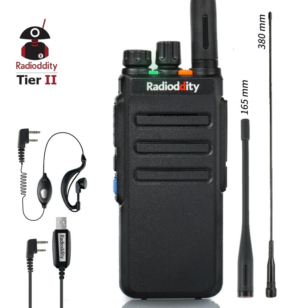 Radioddity GD-77S dmr dupla faixa slot de tempo duplo presunto amador rádio em dois sentidos digital/analógico walkie talkie 1024 canais