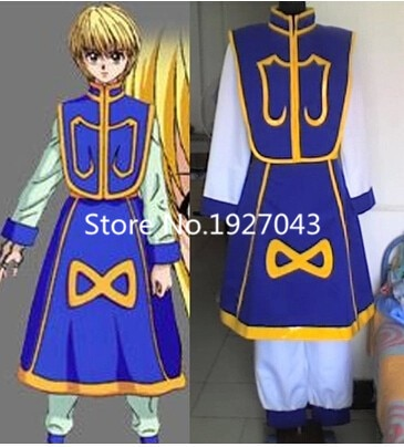 Anime HUNTERxHUNTER Kurapika Costume Cosplay Su ordine
