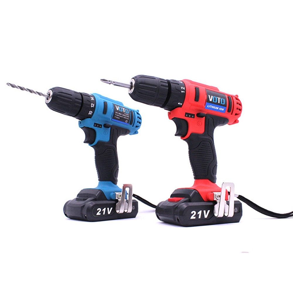 Multi-Function Double Speed 21V Li-ion Rechargeable Cordless Hand Drill Electric Screwdriver Power Tool enlarge