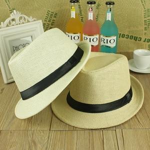 ONE SIZE ADJUSTABLE UNISEX MEN WOMEN SUMMER BEACH TRILBY STRAW PANAMA WIDE BRIM BEACH CAP ENGLISH STYLE SUN HAT