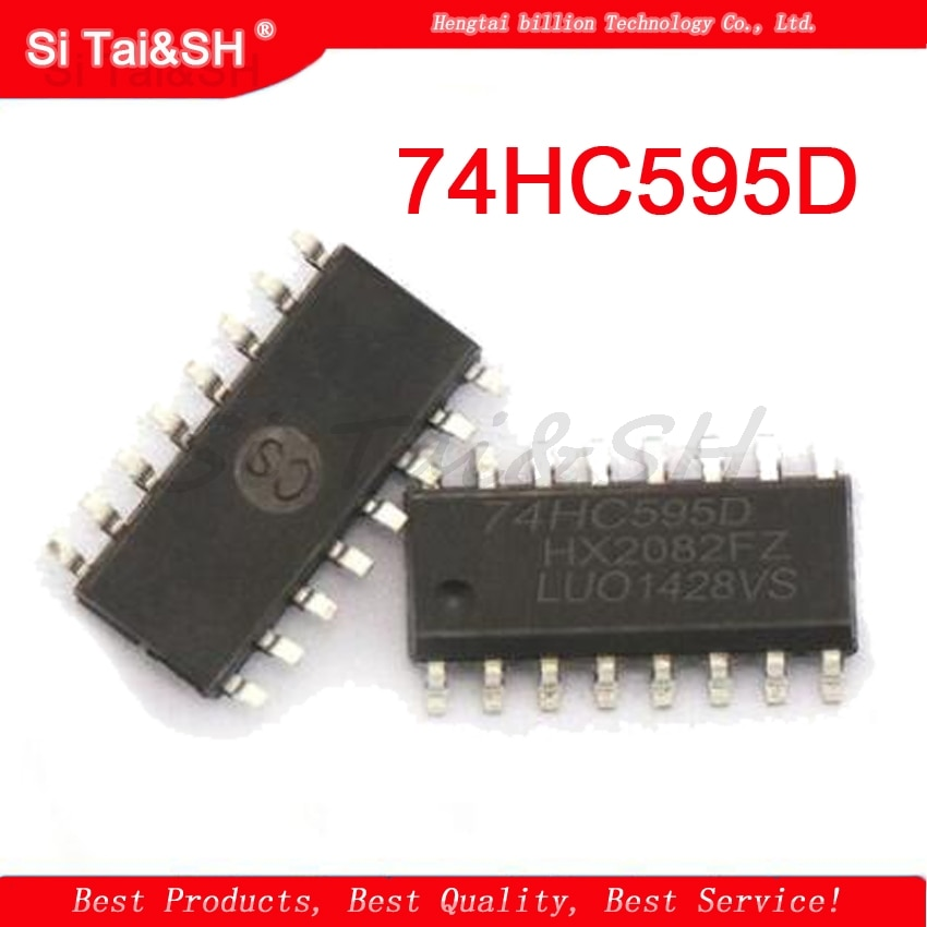 10 unids/lote 74HC595D SOP16 74HC595 SN74HC595DR contra registro 8bit nuevo original