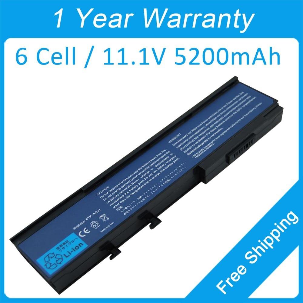 Nueva batería del ordenador portátil de 6 células para acer Aspire 5540, 5550, 5560, 5590, 3623 BTP-AOJ1 BTP-APJ1 BT.00603.026 BT.00603.039 BT.00603.040