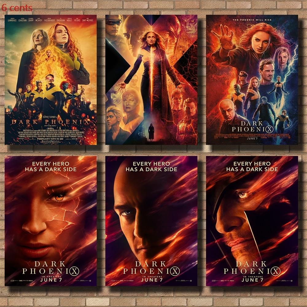 X-Men Black Phoenix Movie Poster, Retro Wall Sticker, Retro Poster, Kraft Paper Poster, Movie Wall Sticker