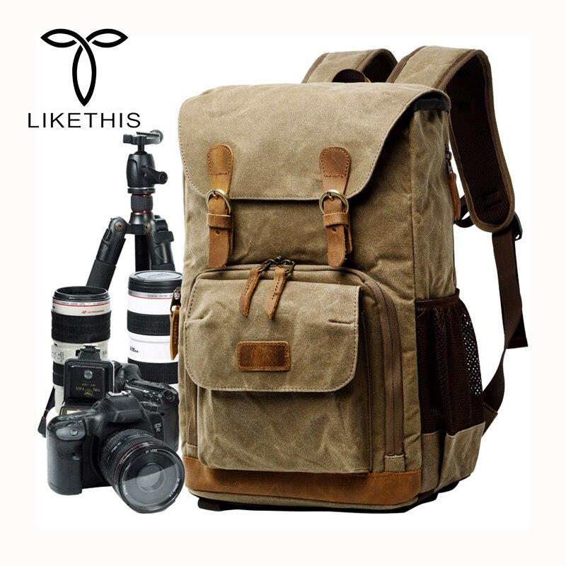 2018 New Camera Liner SLR Digital Backpack Waterproof Canvas Shoulder Camera Bag Fits Traveling Men and Women