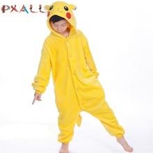 PAXLL-pyjama de nuit pour enfants   Pikachu, vêtements dhiver, motif animal garçon, flanelle, licorne, pour enfants
