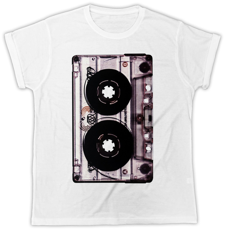 Vintage Cassette Tape Poster Ideal regalo Cool manga corta Unisex Stranger Things diseño 2019 nueva impresión de letra camiseta